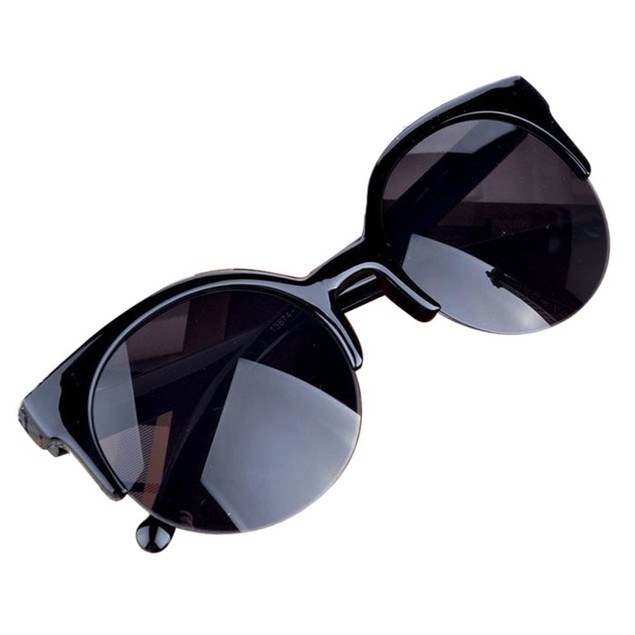 Vintage Retro Cat Eye Round Sunglasses