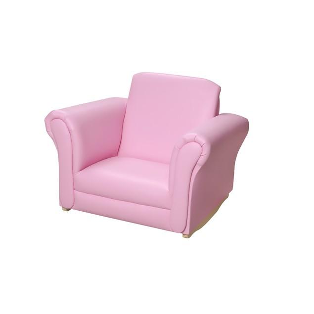 Gift Mark Pink Wood Frame Rocking Chair