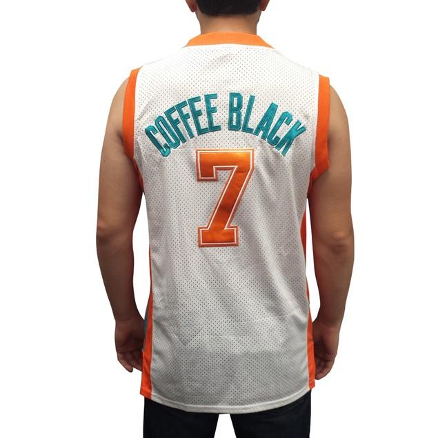 Coffee Black #7 Flint Tropics White Basketball Jersey