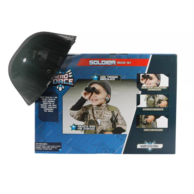 Hero Force Soldier Deluxe Set, Canteen Fits In Pockets, 1 Size Fits Most,
