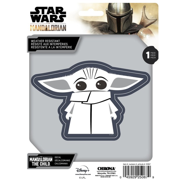 Star Wars The Mandalorian The Child White Decal