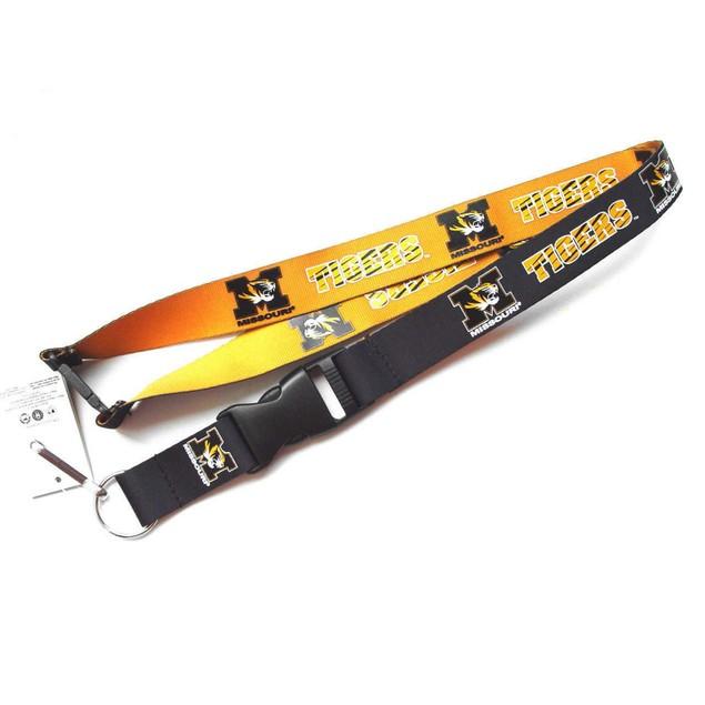 Missouri Tigers Reversible Clip Lanyard Keychain Id Ticket Holder