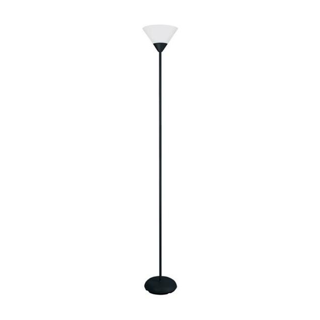 Simple Designs 1 Light Stick Torchiere Floor Lamp - Black