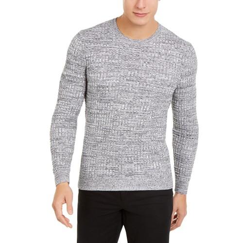 Tasso Elba Men's Basket Weave Crewneck Sweater Gray Size Extra Large