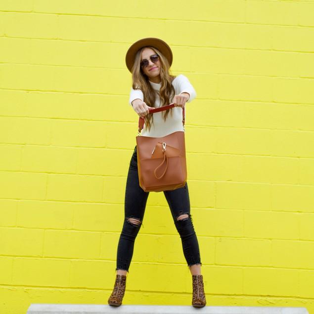 Handbag & Matching Wristlet- 4 Colors