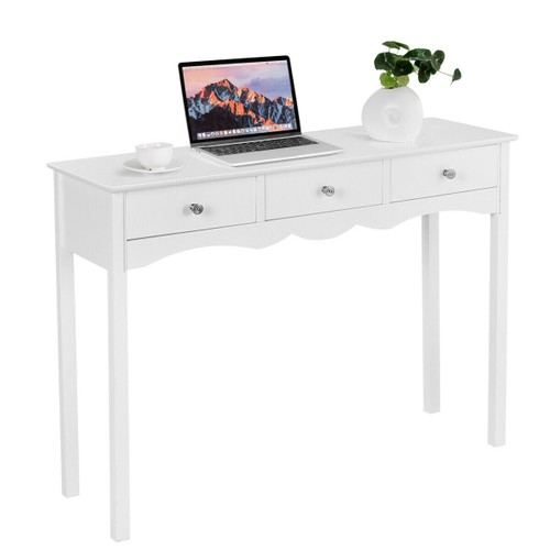 Costway Console Table Hall table Side Table Desk Accent Table 3 Drawers Ent