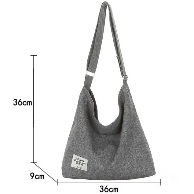 Canvas Hobo Crossbody Bag