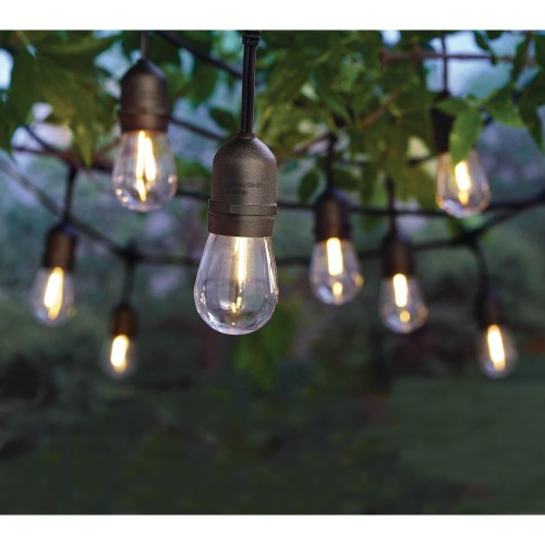Hampton Bay Indoor/Outdoor 24 Ft String 12 Light with S14 Single LED Bulb