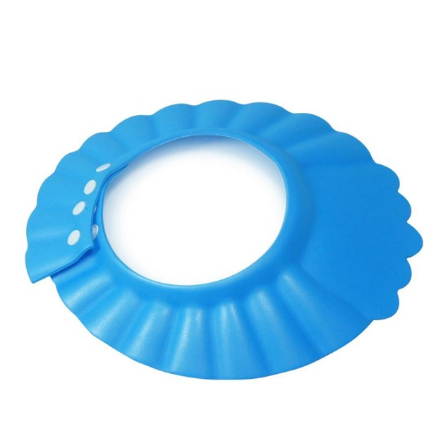 Kids Shampoo Bath Wash Hair Shield Hat Soft Adjustable