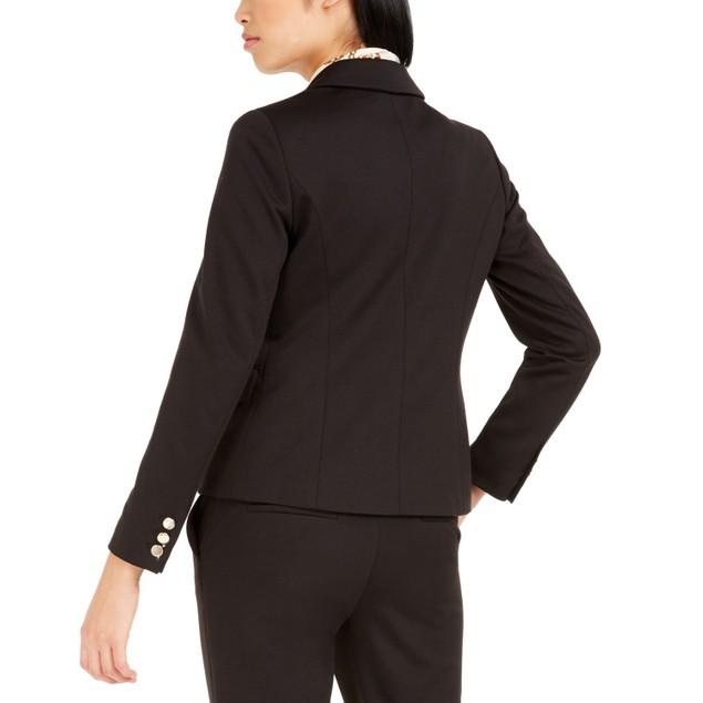 Bar III Women's Double-Breasted Jacket Black Size 4