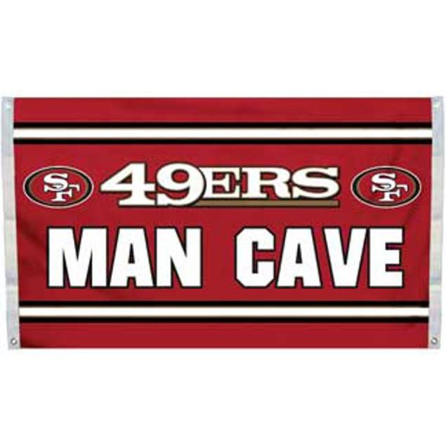San Francisco 49ers Man Cave Flag 3' x 5' Banner 4 Grommets NFL