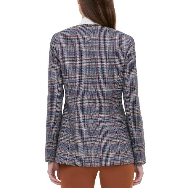 Calvin Klein Women's Petite Plaid Tweed Blazer Black Size 10