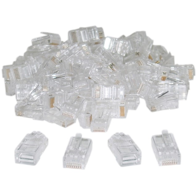 Cat5 RJ45 Crimp Connectors for Solid and Stranded Cable, 8P8C