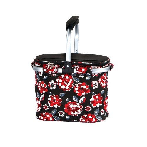 Picnic Plus Shelby Collapsible Market Tote Red Carnation