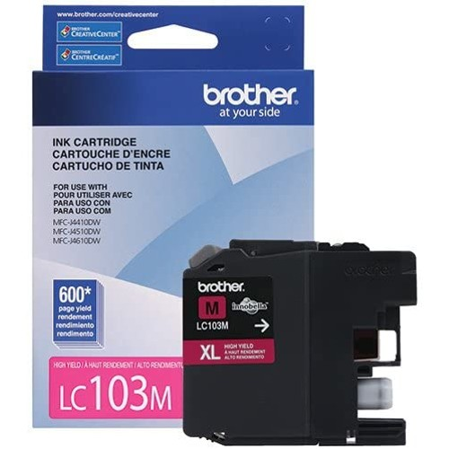 Brothers Brother International LC103M High Yield Magenta Ink Cart