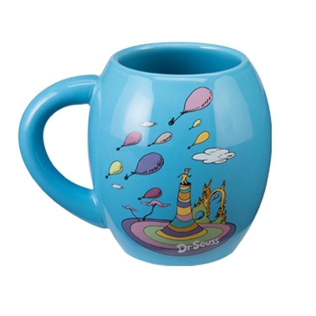 Dr. Seuss Oh The Places You'll Go Oval Coffee Mug Ceramic Graduation Gift