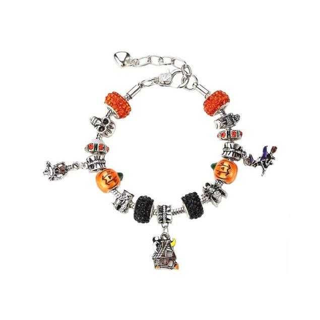 Novadab Spooky Halloween Shamballa Charms Bracelet