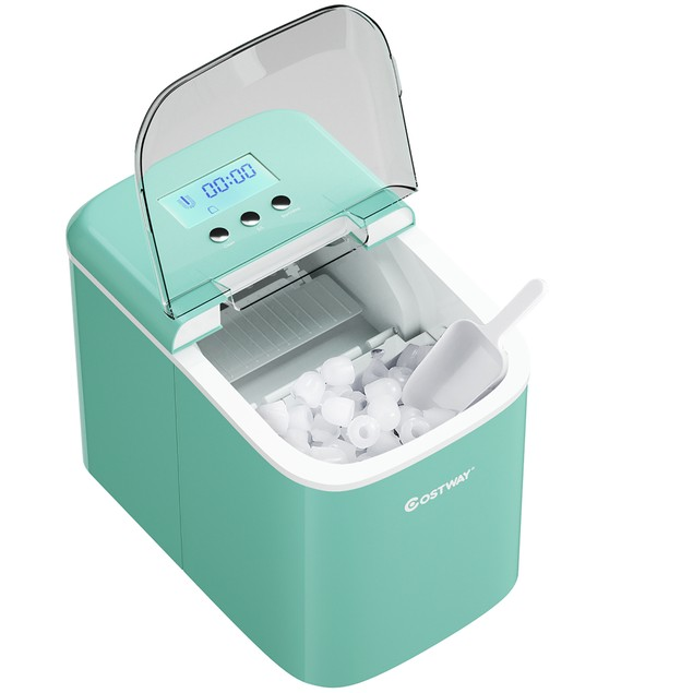 Costway Portable Ice Maker Machine Countertop 26LBS/24H LCD Display w/ Ice