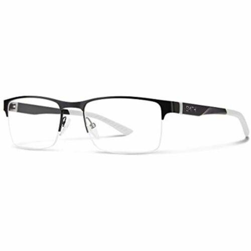 Smith Eyeglasses for Men Watts 04NL Matte Black White Rectangle 54 19 140 with Demo Lens