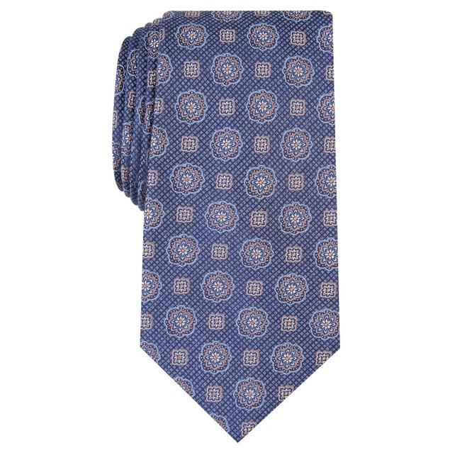 Tasso Elba Men's Classic Medallion Tie  Purple Size Regular