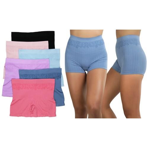 ToBeInStyle Women's Pack of 6 Pairs of Lightweight Nylon Layering Seamless Shorts
