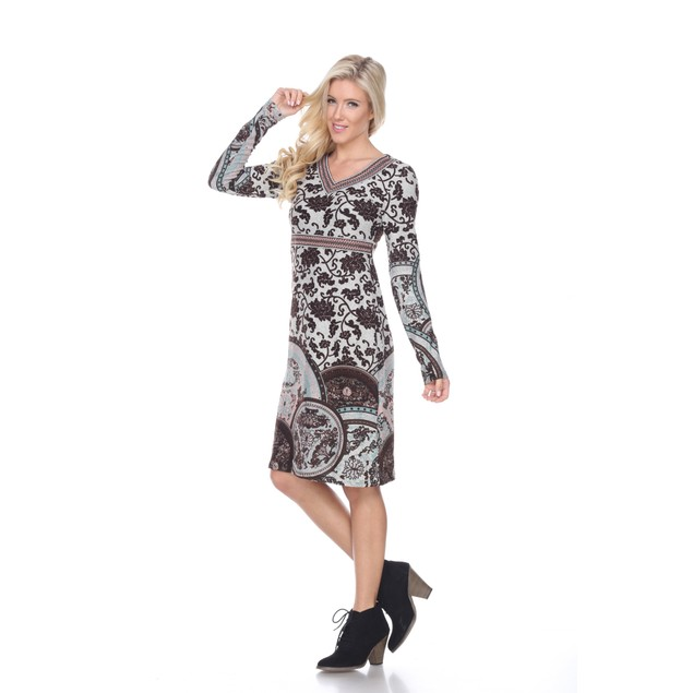 Naarah Embroidered Sweater Dress - 2 Colors