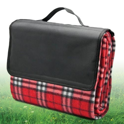 Stylish 50x60 Picnic Blanket Portable Soft Fleece Outdoor Blanket W/ Handle