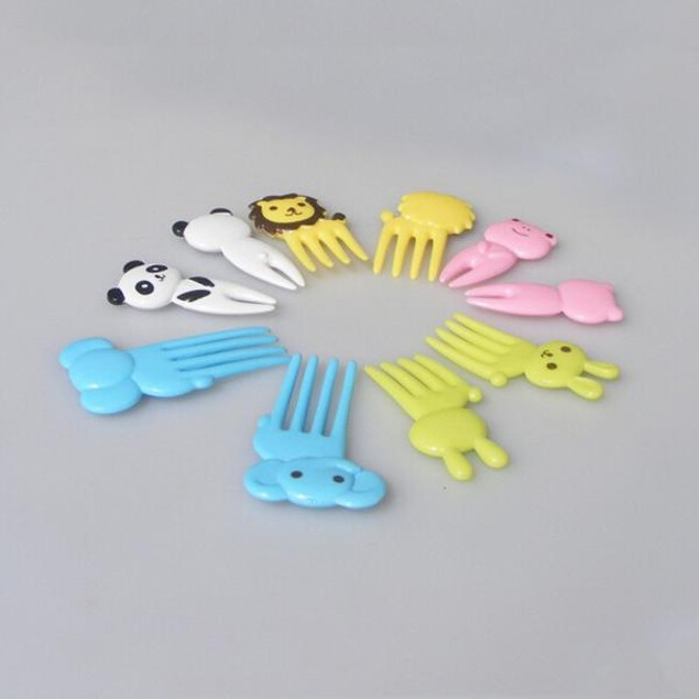 Animal child fruit fork creative plastic easy decoration