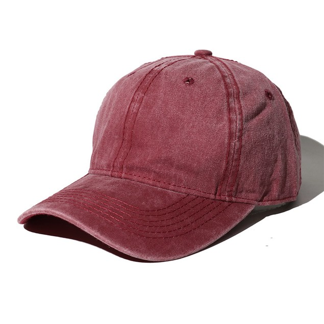 Retro Distressed Curved Brim Caps For Men And Women Couples