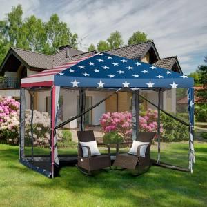 Costway 10'x10' Folding Pop Up Tent Gazebo Canopy