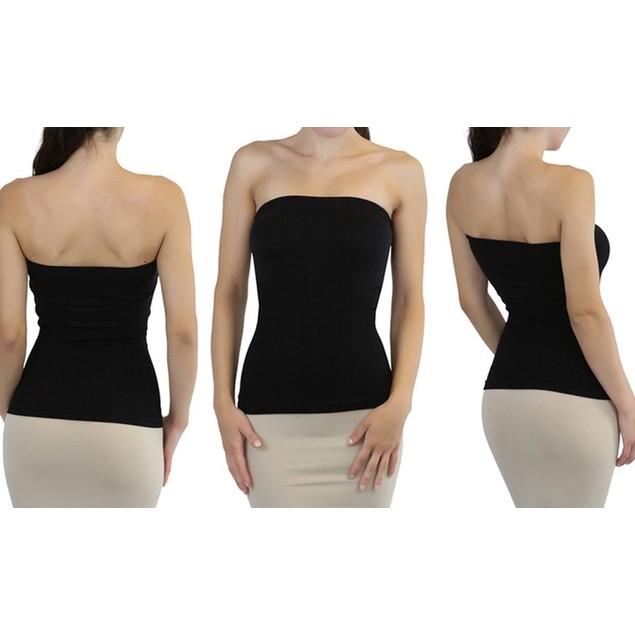 (3-Pack) ToBeInStyle Women's Sleek Slimming Tube Tops