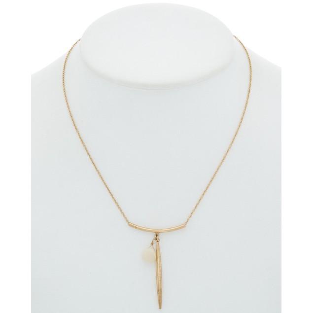 Rose Quartz with Bullet Pendant Necklace