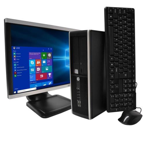 "HP 6200 Desktop Intel Core 8GB 250GB HDD Windows 10 Home 22"" Monitor"