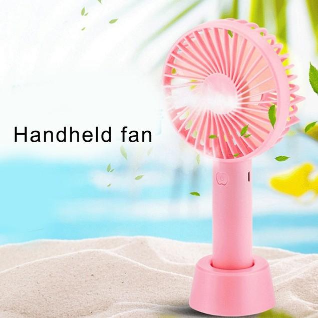 Handeld Dorm Office Desktop USB Rechargeable Fan Cooler with Base