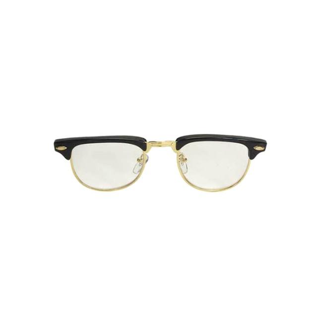 Nerdy Soho Glasses With Black and Gold Frames Malcolm X 50's 60's Wayfarer