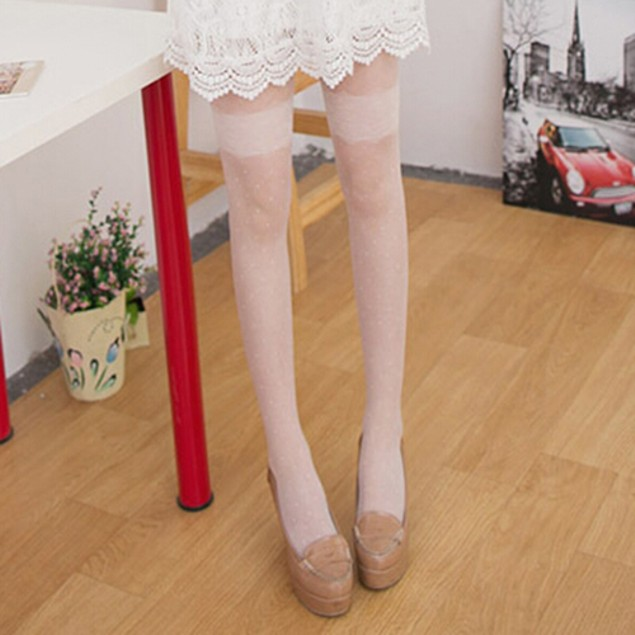 Dot Cut Sheer Pantyhose Socks Stockings Tights Slim Leggings
