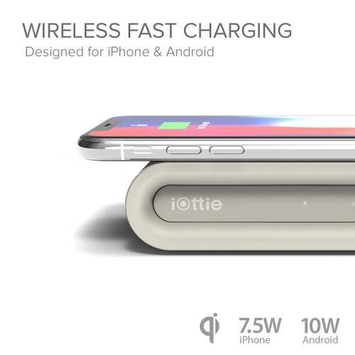 iON Wireless Fast Charging Pad Plus (Tan)