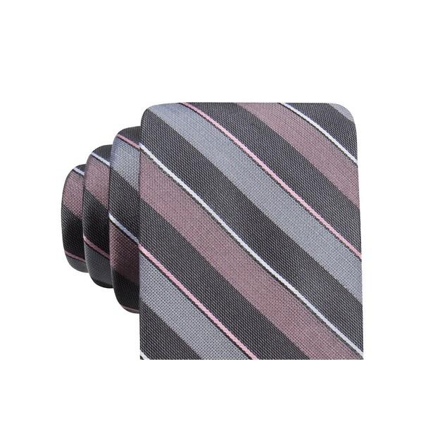 Ryan Seacrest Distinction Men's Bragg Slim Stripe TiePink Size Regular