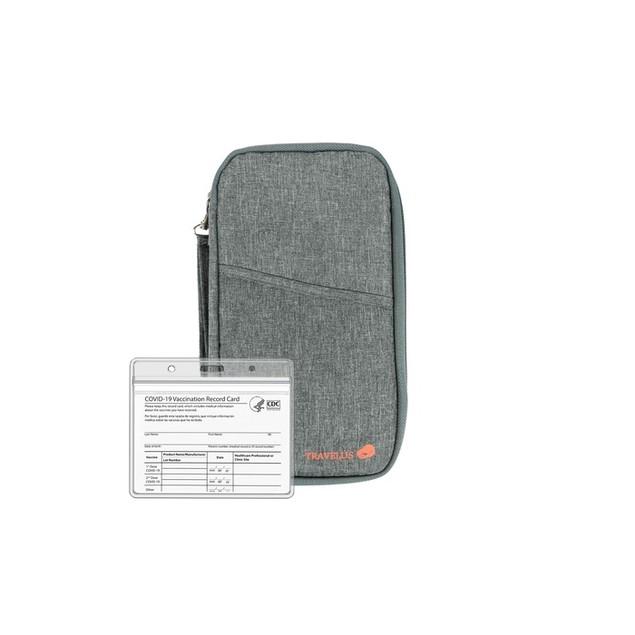 Unisex Passport Wallet Travel Organizer with Vaccination Card Holder