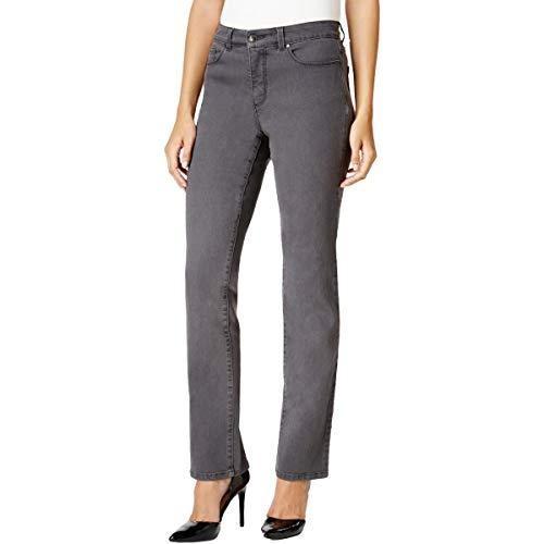 Charter Club Women's Petite Lexington Straight-Leg Jeans Gray Size 12