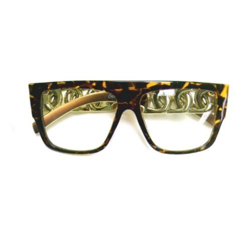 Tortoise Chunky Hip Hop Sunglasses Rapper Run DMC Chain Link Rap Hammer Sun