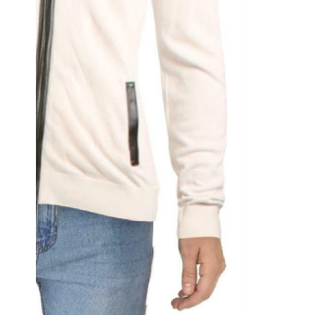 INC International Concepts Zip-Front Cardigan Snowfall White 3 Extra Large