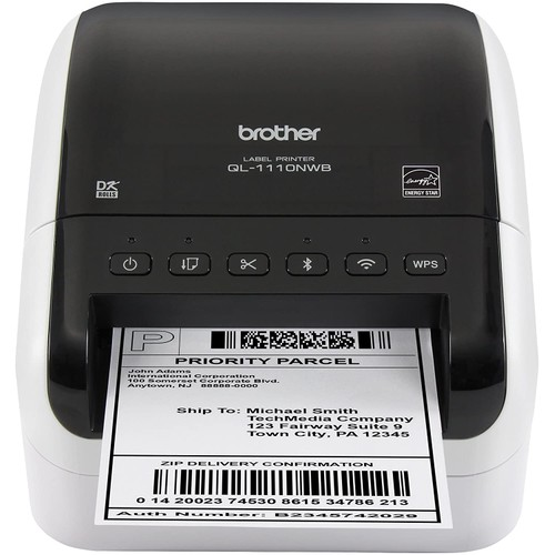 Brothers Brother QL-1110NWB Wide Format, Postage and Barcode Professional Thermal Label Printer with Wireless Connectivity
