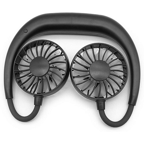 MINIMAX Portable 360 Degrees Rechargeable Hands Free Necklace Fan, Black