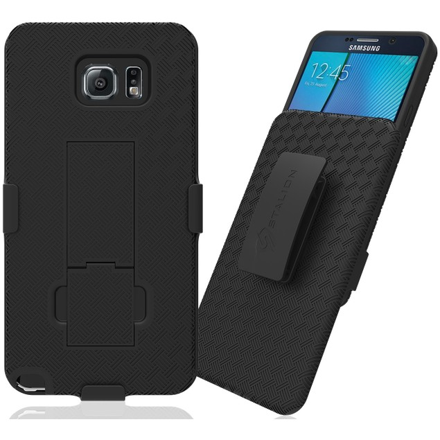 Stalion Secure Belt Clip Holster Shell Case Kickstand for Galaxy Note 5