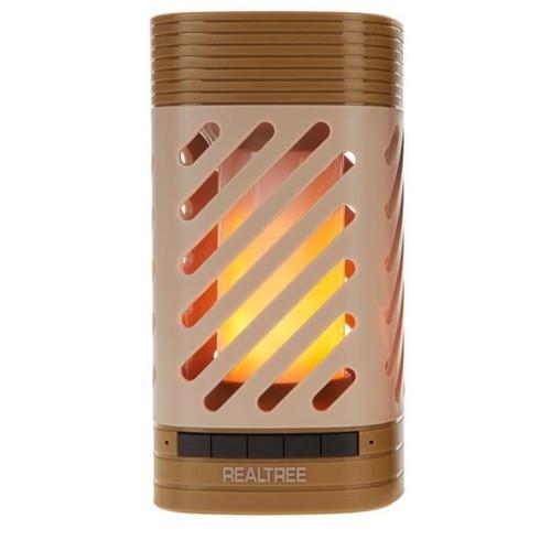 REALTREE LED Lantern Bluetooth Speaker, RLT6006-CM, Tan (Certified Refurbished)