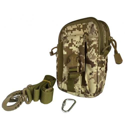 Multifunctional outdoor sports and mobile phone Military Bag Military Brown 15 Pcs