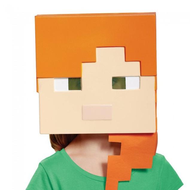 Alex Half Mask Child Minecraft  Mine Craft Costume Halloween Gift Accessory