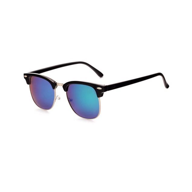 Ferris Bueller Half Frame Purple Hue Sunglasses