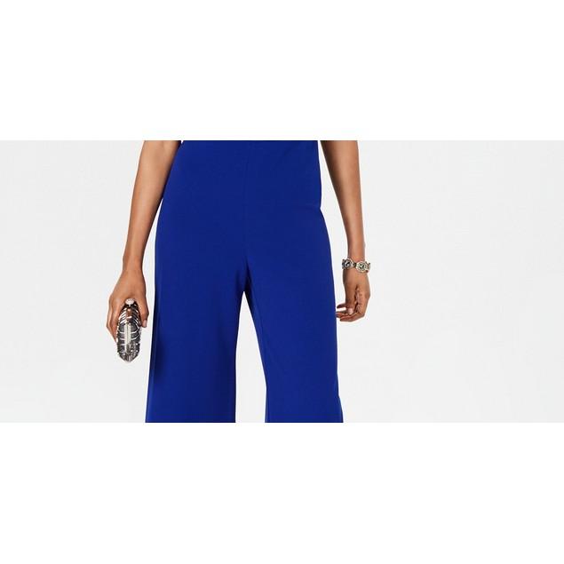 Connected Women's Wide-Leg Jumpsuit Medium Blue Size 16